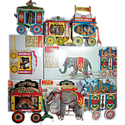 Steiff Golden Age of The Circus Wagons with Animals Set of 5 in boxes with Certificates 1980s