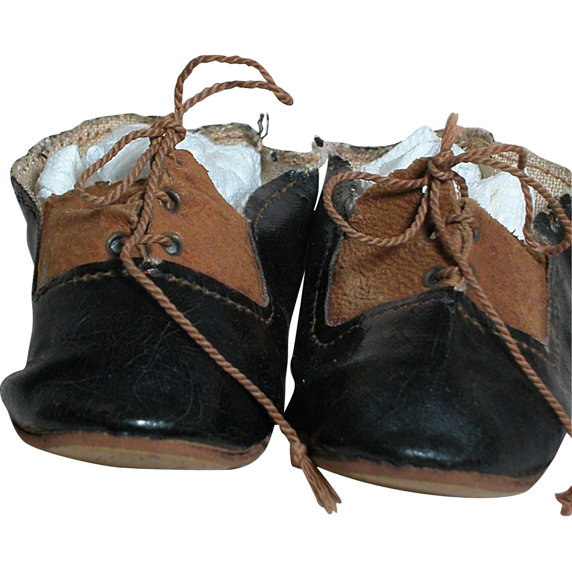 antique german doll shoes black brown size 10 marked in oval made in ann marie 39 s antique dolls. Black Bedroom Furniture Sets. Home Design Ideas