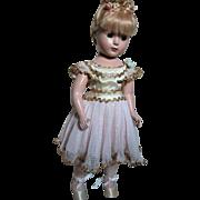 Madame Alexander Doll Nina Ballerina  Original Outfit Hard Plastic  1949-51