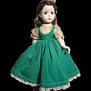 Madame Alexander  Doll  Beth Walker Little Women  Original Tagged Dress  1950 - Red Tag Sale Item