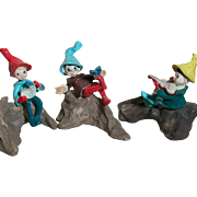 Three Napco Figurines  Piper or Elfs  Japan