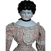 "Lovely German Shoulder Head  China Doll Beautiful Face  Nice outfit   22"" Tall 1860"
