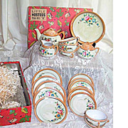 Little Hostess Luster Ware Child's Toy Tea Set in Original Box Made Japan 24 pc