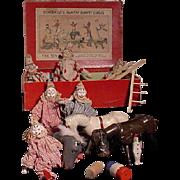 Group Of Schoenhut Figures, Animals And Box