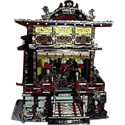Vintage Japanese Hina Palace With Ten Figures
