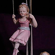 Victorian Swinger And Reclining Child