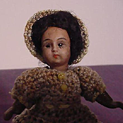 Miniature Black Bisque Doll