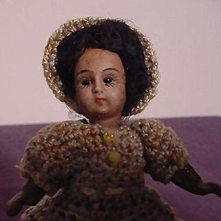 Miniature Black Bisque Doll