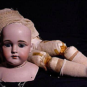 Very Large Doll Head By Kestner