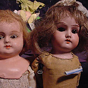 Pair Of German Play Dolls