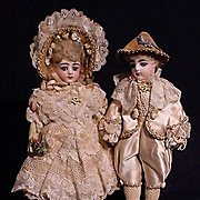Pair Of Petite Francois Gaultier Dolls