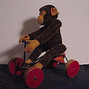 Original Steiff Monkey On Cart