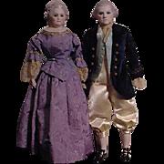 George And Martha Washington Portrait Dolls
