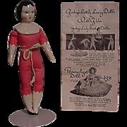 Ruth Gibbs Doll With Brochure