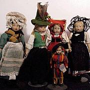 Five Lenci Dolls
