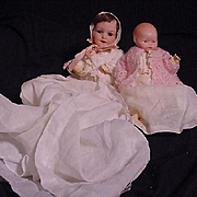 Pair Of Small German Character Babies