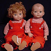 Pair Of Effanbee Toddlers