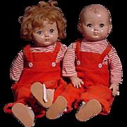 Pair Of Effanbee Toddlers
