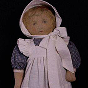 Cloth Art Fabric Mills Doll In Excellent Condition
