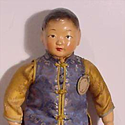 Composition Chinese Character Doll In Near Mint Condition