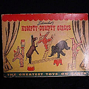 Schoenhut Humpty Dumpty Circus With Box And Extra Pieces