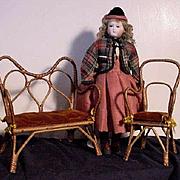Beautiful Wicker Set Of Period Furniture