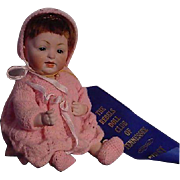 Unusually Large All Bisque Baby With Swivel Head