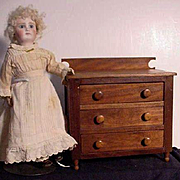 Antique Three Drawer Chest For Doll