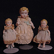 Three Early All Bisque German Babies