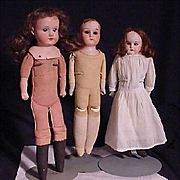 Three German Play Dolls