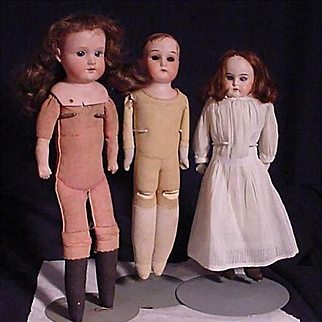 Three German Play Dolls