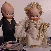 Pair Of German Kewpies In Original Bridal Wear