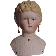 Beautiful Molded Hair Bisque With Elaborate Hairstyle
