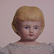 Molded Hair Bisque Shoulder Head Child