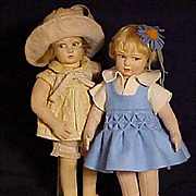 Pair of Lenci Children
