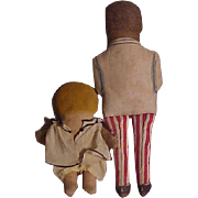American Cloth Pair - Dolly Dingle and Cream Of Wheat Man