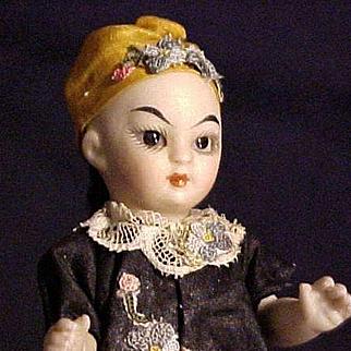All Bisque Oriental Mignonette With Swivel Head