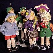 Six Georgene Averill Cloth International Doll