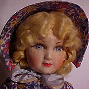 English Cloth Doll In All Original Condition