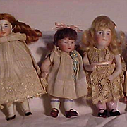 Group Of Four German All Bisque Children