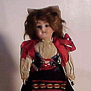 German Bisque Child In Regional Costume