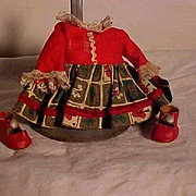 Dress And Shoes For Muffie Doll