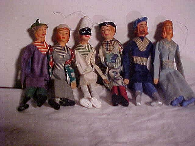 Six Character Figures With Elaborate Molded Faces