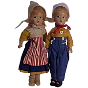 Pair Of Composition Wendy - Ann Dolls Dressed In Original Costumes