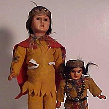 Pair Of All Original German Made American Indians