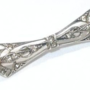Sterling Silver French Paste Bar Pin