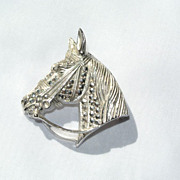 Alice Caviness Sterling Silver Designer Horse Pin West Germany
