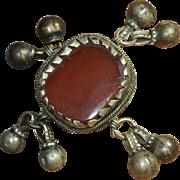 Handmade Hippy Artisan Carnelian Ring with Charms