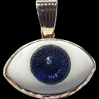 Evil Eye 14K Gold Good Luck Glass Pendant