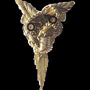Large Eclectic Handmade Artisan Brooch